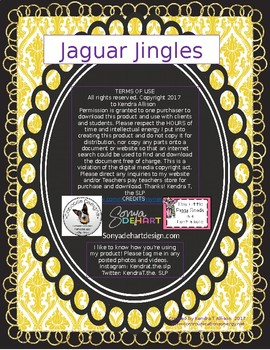 Jaguar Jingles: Sing-a-longs for Language Stimulation