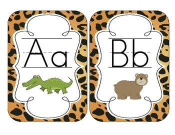 Jaguar Print Alphabet Cards
