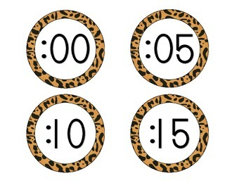 Jaguar Print Clock Numbers
