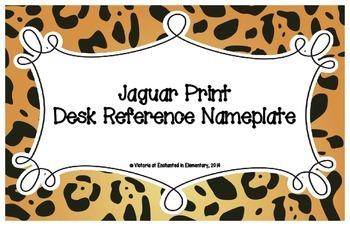 Jaguar Print Desk Reference Nameplates