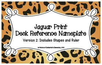 Jaguar Print Desk Reference Nameplates Version 2