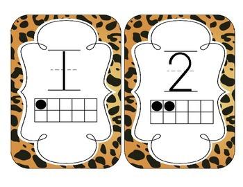 Jaguar Print Number Cards 1-20