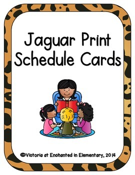 Jaguar Print Schedule Cards