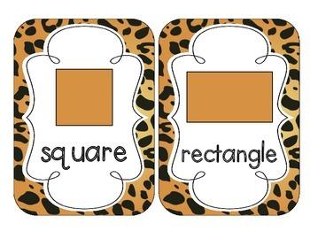 Jaguar Print Shape Cards