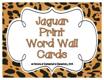 Jaguar Print Word Wall Cards