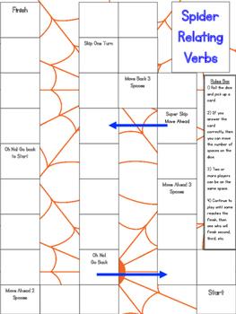 Spider relating verbs