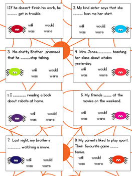 Spider relating verbs