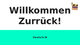 (Beginning of the Year Activity) German Course Kick-off Questions