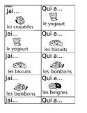 Core French J'ai Qui A - Nourriture
