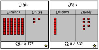 I Have/Who Has : J'ai... Qui a? Dizaines et Unites
