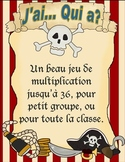 J'ai... Qui a?  Jeu de mulitplication theme de pirate