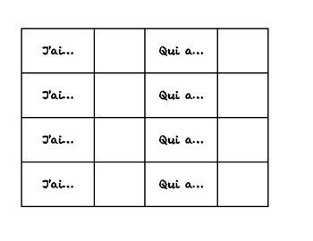 J'ai... Qui a... L'alphabet/L'automne (I have... Who has)