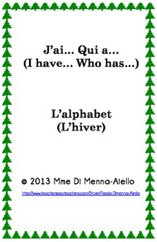 J'ai... Qui a... L'alphabet/L'hiver (I have... Who has)