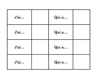 J'ai... Qui a... L'alphabet/L'hiver (I have... Who has)