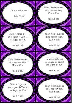 Jeu de math : Le périmètre (supérieur à 50cm)