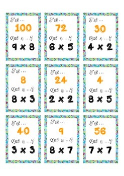 J'ai Qui a  Multiplication tables