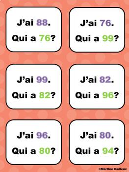 Nombres de 75 à 100 J'ai... Qui a?