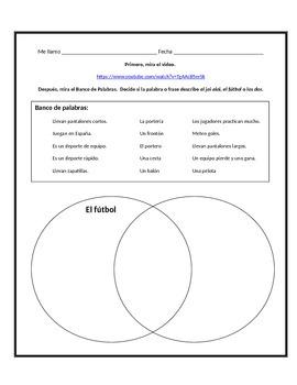 Jai alai / Soccer Venn Diagram (Spanish)