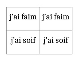 Nourriture (Food in French) J'ai faim J'ai soif activity