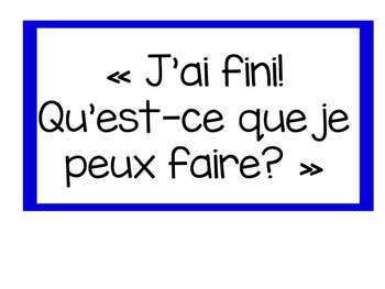 """J'ai fini!"" – ""I am finished"" chart in French"