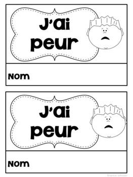 J'ai peur French Halloween Reader & Prediction graph chart {en français}