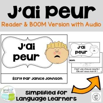J'ai peur French Reader & Prediction graph chart {Dual lan