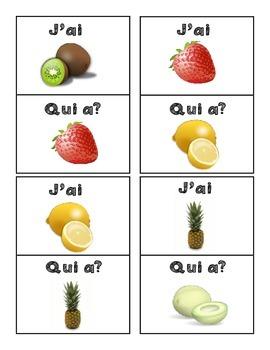 J'ai qui a - Fruits et légumes