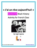 """J'ai un reve!"" French Glogster Black History Activity"