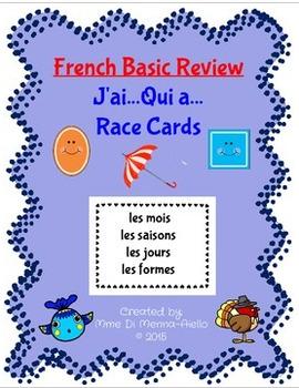 J'ai...Qui a... French Card Game (les jours, les mois, les saisons, les formes)