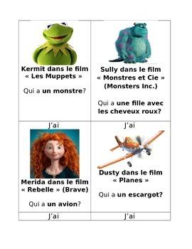 J'ai...Qui a...? French Game (Jeu): DISNEY EDITION