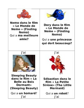 J'ai...Qui a...? French Game (Jeu): DISNEY EDITION