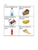 J'ai/Qui a (I have..who has...) oral communication with food vocab - French