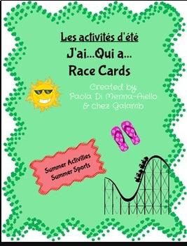 J'ai...Qui a... Les Activités d'été (French Summer/Sports Theme)
