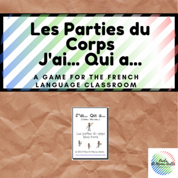 J'ai...Qui a... Les Parties du Corps Game (French)