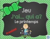 J'ai...Qui a...? du printemps/French spring game I have... Who has...?