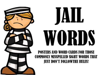 Jail Words- Posters for those tricky rule-breakers!
