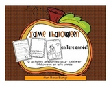 {J'aime l'Halloween!} Activities for grade 1 Immersion or Primary Core French