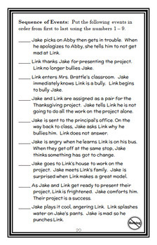 Jake Drake, Bully Buster (Andrew Clements) Novel Study / Comprehension