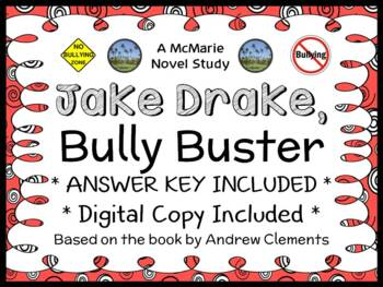 Jake Drake, Bully Buster (Andrew Clements) Novel Study / Comprehension
