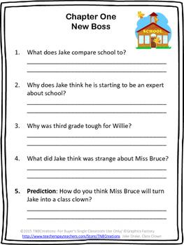 Jake Drake, Class Clown Novel Study