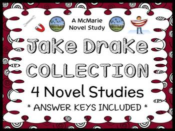 Jake Drake Collection (Andrew Clements) 4 Novel Studies / Comprehension Units