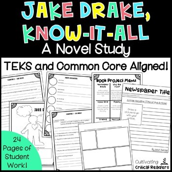 Jake Drake Know It All Novel Study