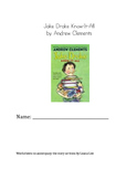 Jake Drake Know-It-All Worksheet Packet