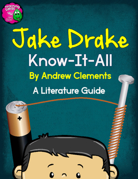 Jake Drake Know-It-All by Clements Novel Study Teaching Unit Literature Guide