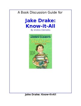 Jake Drake, Know-it-All Book Discussion Guide