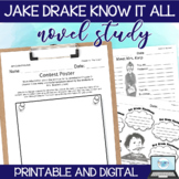 Jake Drake Know it All - Lessons/Comprehension Activity Printables