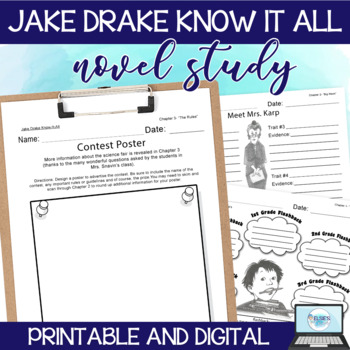 Jake Drake Know it All - Lessons/Comprehension Activity Pr