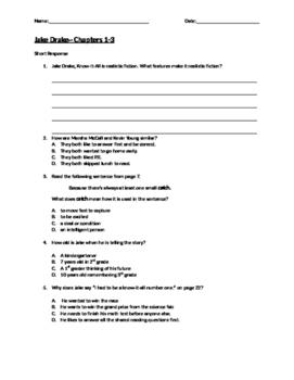 Jake Drake Quiz Chapters 1-3