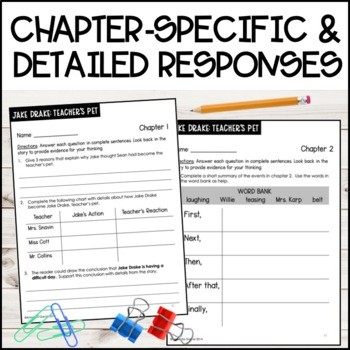 Jake Drake, Teacher's Pet: Complete Unit of Reading Responses