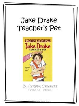 Jake Drake Teacher's Pet Literature Unit